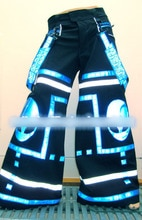 Alient shuffle danza Pantaloni Raver minerale Techno Hardstyle Tanz Hose fluoreszierend Shuffle DJ Melbourne Shuffle Pantaloni donna uomo coagulo