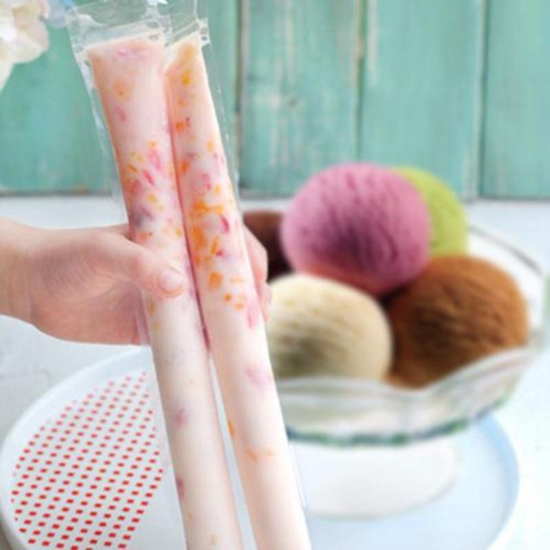 200 шт одноразовые формы для мороженого, пакеты для мороженого DIY, самостоятельные стильные мешки, инструменты, формочка для морозильника, фо...