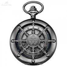 KS Boot Ruder Hunter Karte Zifferblatt Fob Schlüssel Clip Anhänger Masculino Uhr Lange Kette Analog Mens Casual Quarz Taschenuhren/KSP107