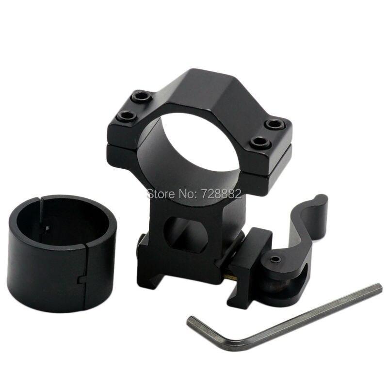 """Alcance láser linterna 25,4mm 1 """"30mm anillos soporte para antorcha Montaje de Liberación Rápida para 20mm carriles de tejer Picatinny"""