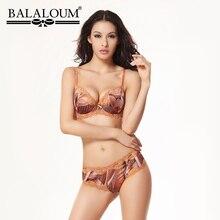 BALALOUM Sexy Frauen Spitze Geometrische Muster Bh Kurze Sets Nahtlose Büstenhalter Strass aushöhlen Pushup Unterwäsche Dessous Set