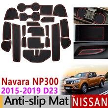 Tapis antidérapant en caoutchouc pour Nissan Navara NP300 D23   Tapis de porte, 20 pièces 2015 2016 2017 2018, accessoires autocollants de voiture, style de voiture