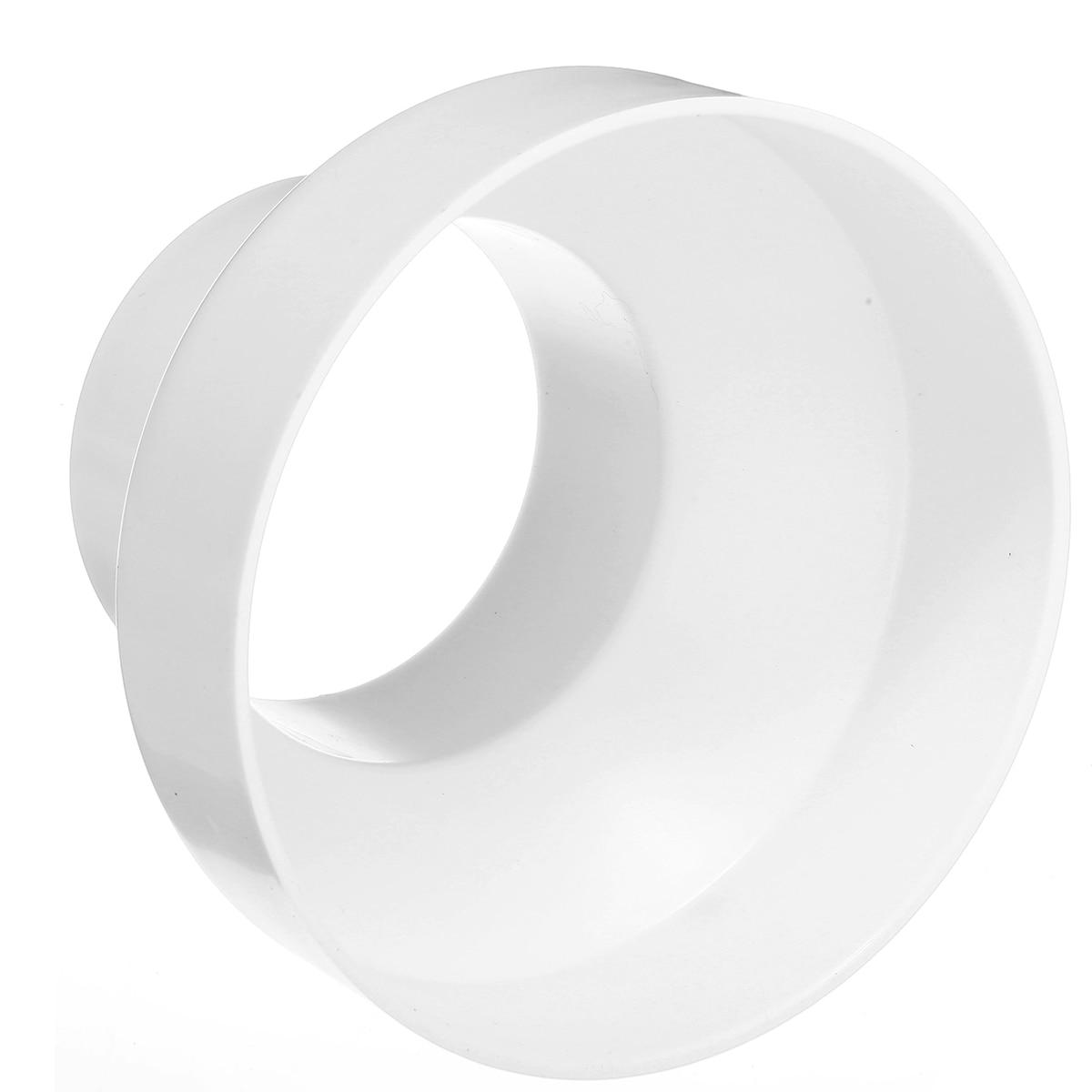 Reductor de tubo de ventilación ABS blanco cabeza redonda junta de tubería/Adaptador conector de tubería de PVC tamaño 150mm a 100mm