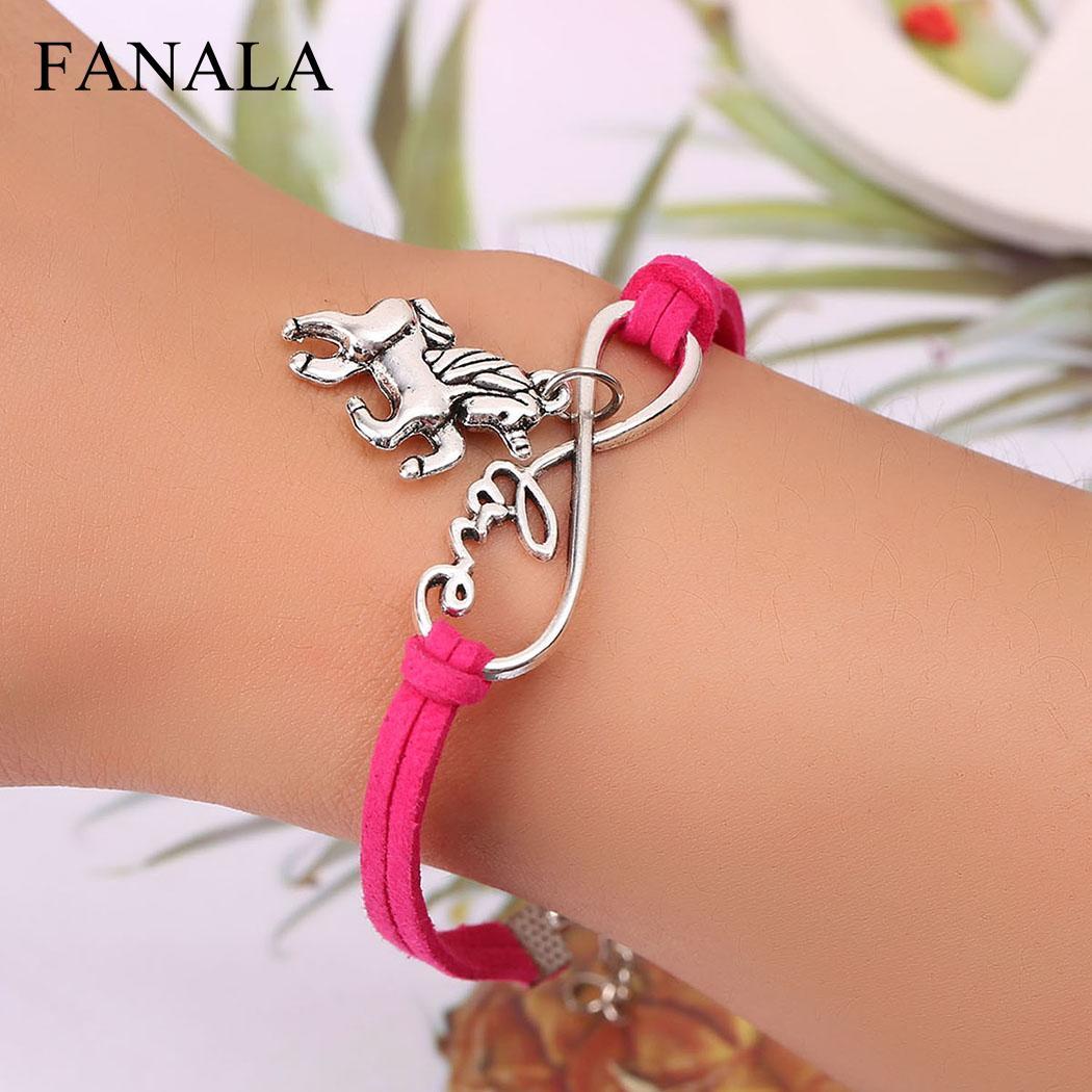 Fanala Для женщин браслет Модные украшения новая любовь Форма цепочка Браслеты для
