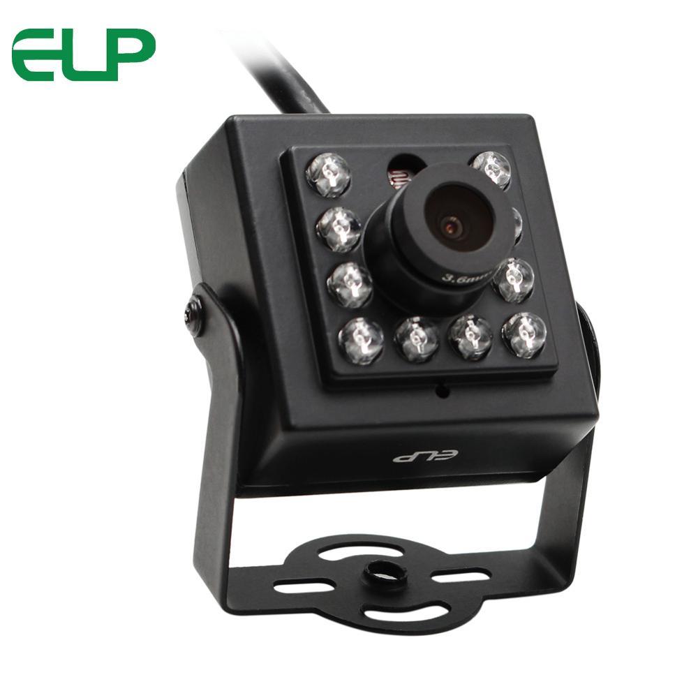 ELP 1,3 megapíxeles Aptina AR0130 IR Cut IR Led día visión nocturna cámara web aluminio Mini funda a prueba de vandalismo interior USB Cámara