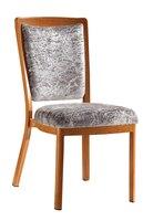 upholstered woodgrain aluminum hotel restaurant chair LQ-L9102