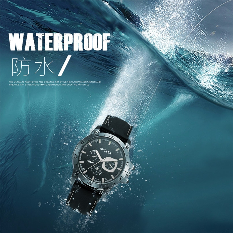 Relojes deportivos militares a prueba de agua de marca de lujo, reloj analógico de cuarzo digital de acero plateado para hombre, relojes Masculinos #4M03