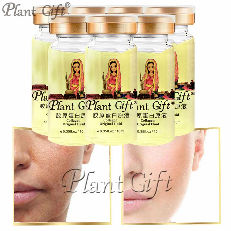Plant Gift Collagen Original Fluid Increases Skin's Elasticity And Shine, Making Skin Firmer 10ml*7pcs