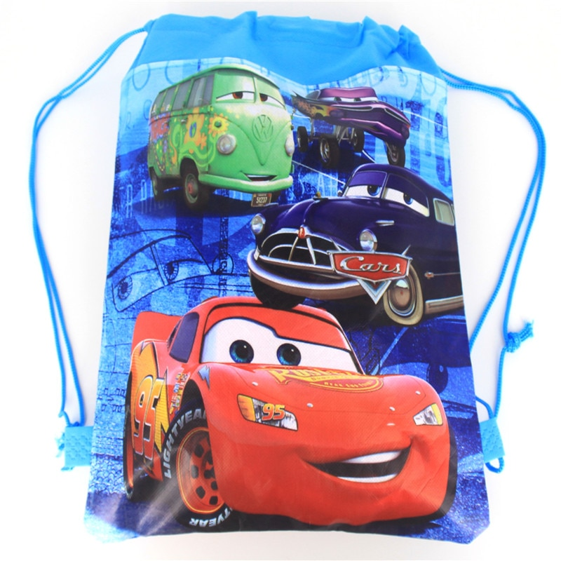 1pcs High Quality Disney Cars Theme Drawstring Bags Kid Cotton Travel Pouch Storage Clothes Shoes Ba
