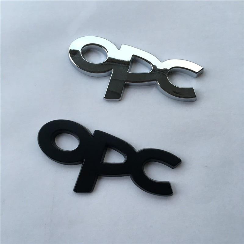 5X OPC chrome black metal Emblem Badge Sticker accessories for Opel Corsa Meriva Zafira Astra Vectra Antara Mokka