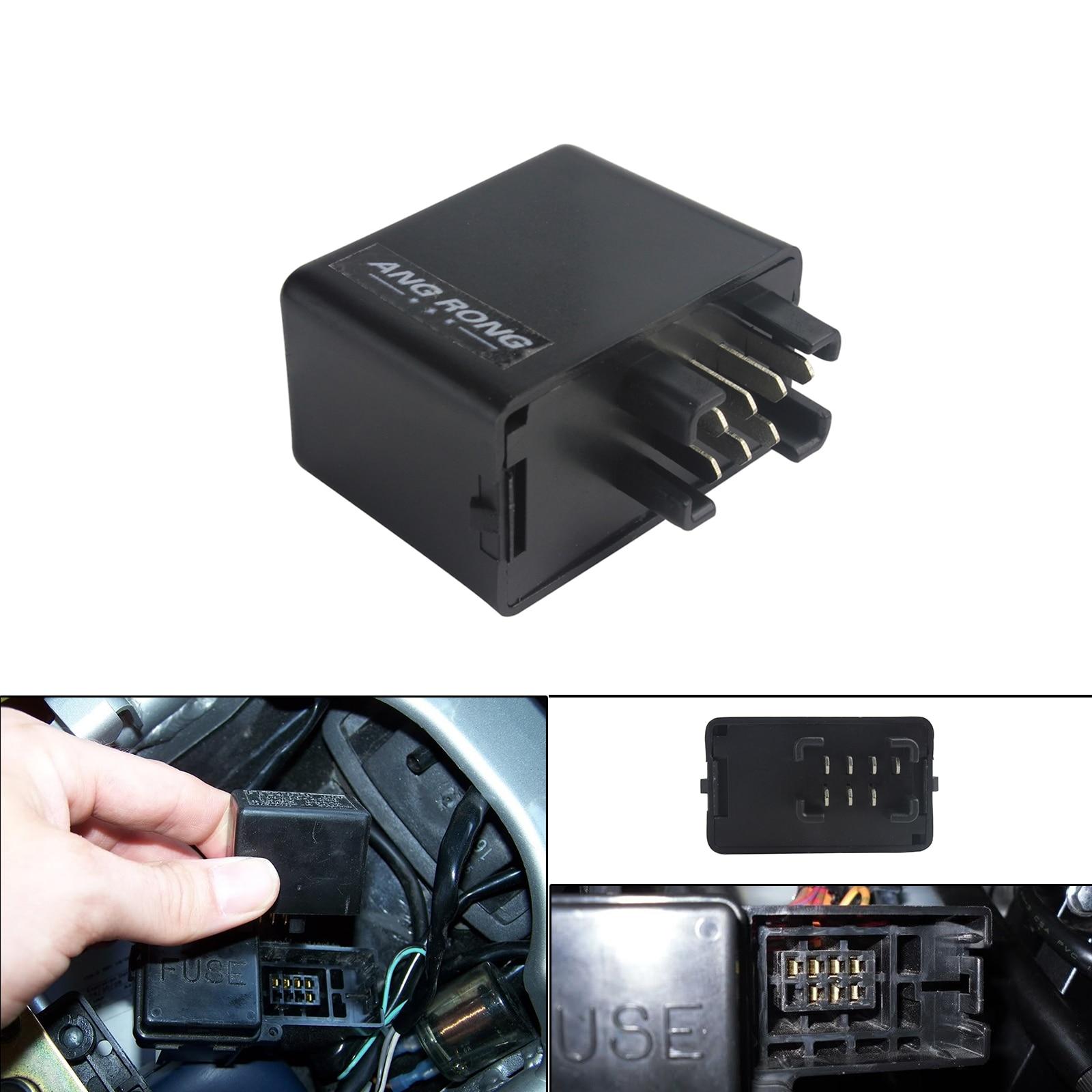 Relé de señal intermitente ANGRONG de 7 pines para indicadores LED para Suzuki GSXR 600 SV 650 GSX 650F