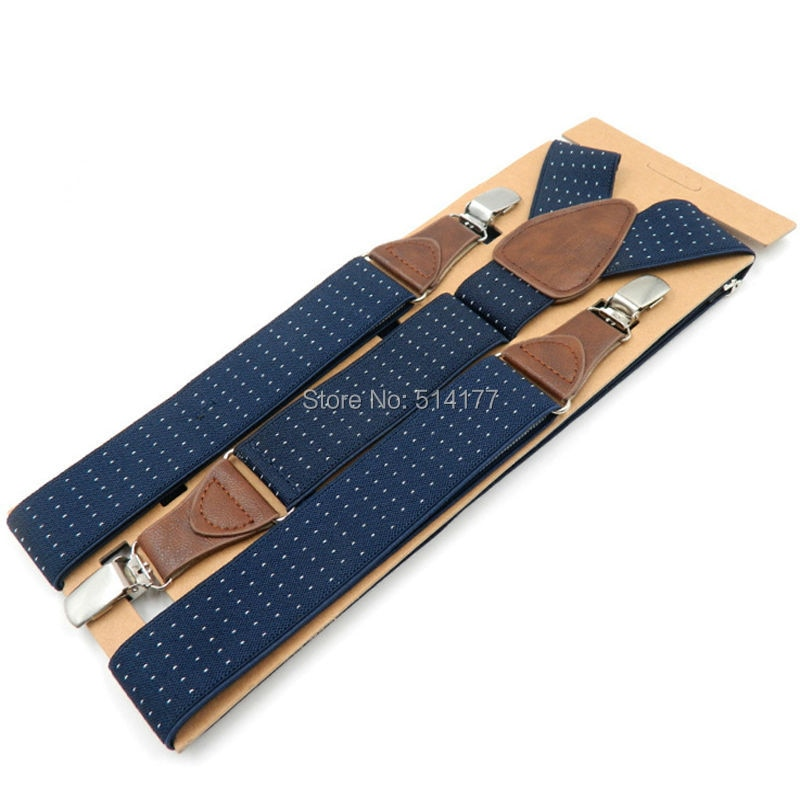 Подтяжки мужские, 3 зажима, кожаные подтяжки для взрослых