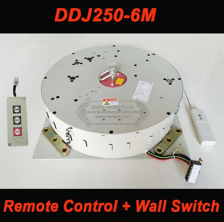 رافعة حائط كهربائية مع مفتاح تحكم عن بعد ، 250 كجم ، 6 م ، 110 فولت-120 فولت ، 220 فولت-240 فولت