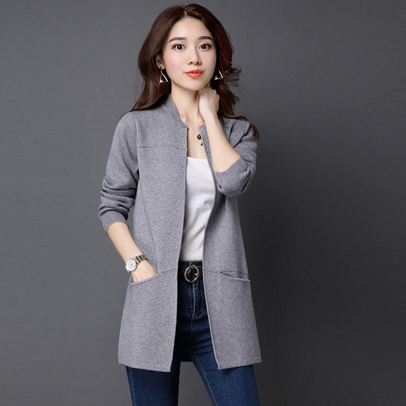 Fashion Long Shawl Cardigan Jacket Women Jumper Plus Size Knitted Sweater Coat Chaqueta Mujer Women Tops Cardigan Sweaters C4571