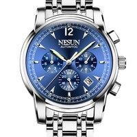 Luxury Brand NESUN Switzerland Watch Men Automatic Mechanical Watches relogio masculino Luminous Multifunctional clock N9801-2