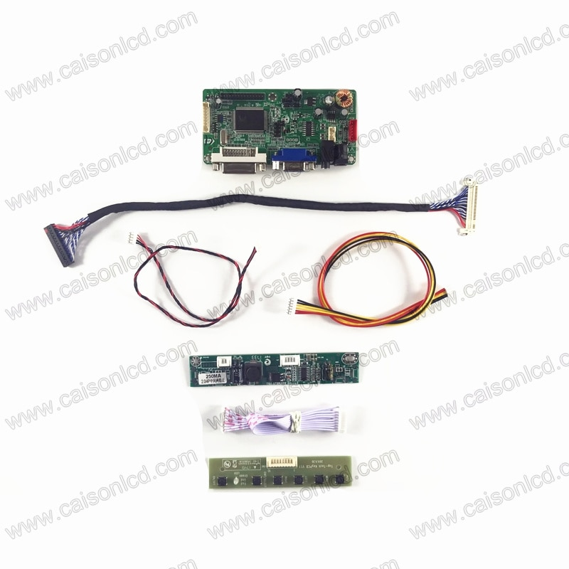 RTD2261 suporte placa controladora LCD VGA DVI Áudio para 18.5 polegada LCD painel 1920x1080 HM185WX1 M185XTN01.2 M185BGE-L10 L12 reparação