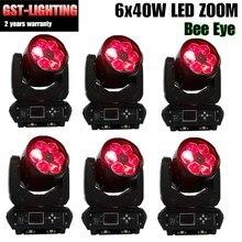 6pcs/lot Professional lighting Mini lyre led moving head light 6x40w