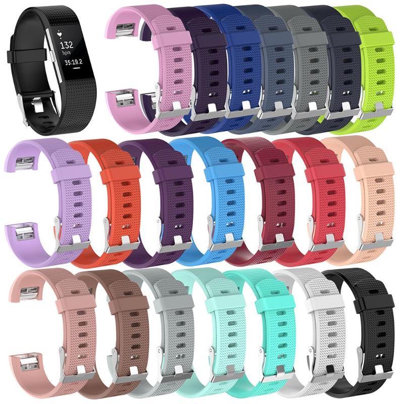 Correa de silicona suave deportiva para reloj, correa de repuesto para reloj Fitbit Charge 2