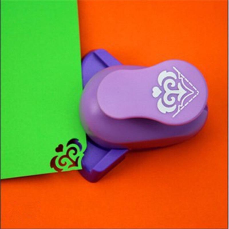 Бесплатная доставка, угловой перфоратор в форме сердца, сделай сам, дырокол, дырокол для скрапбукинга, резец для бумаги, дырокол, cortador de papel de ...
