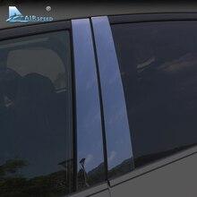 Airspeed dla Subaru Forester XV akcesoria Outback okna samochodu B filary pokrywa wykończenia listwy błyszczący czarny na zewnątrz samochodu naklejki