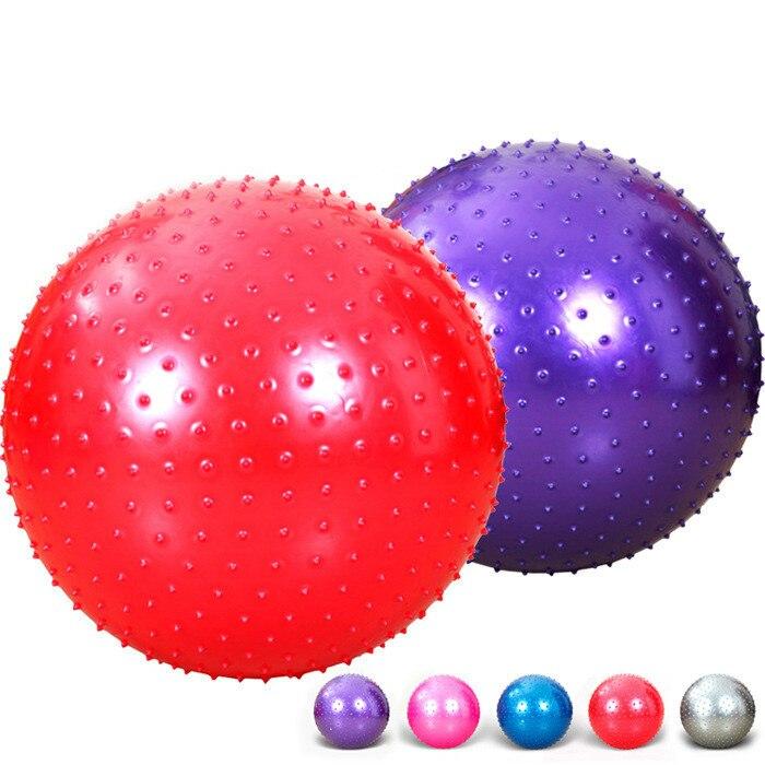 Bolas de Yoga deportivas punto Fitness gimnasio equilibrio Fitball ejercicio Pilates entrenamiento Bola de masaje de púas 55 cm 65 cm 75 cm 85 cm de tamaño a 4