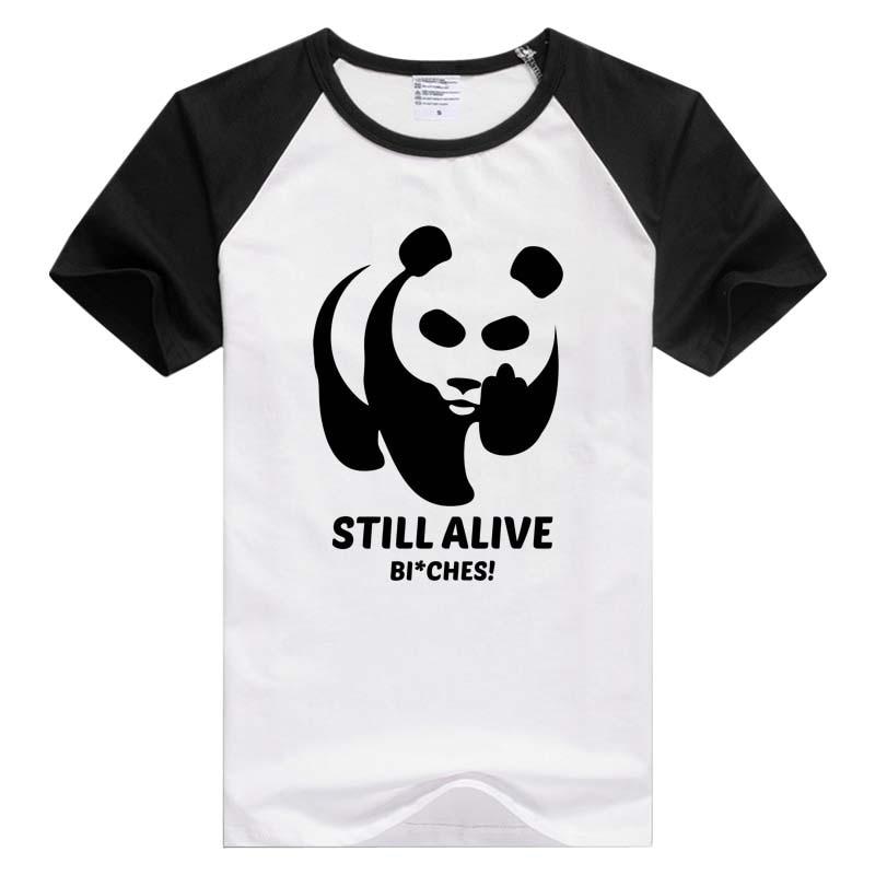 Мужская и женская футболка с коротким рукавом Still alive Boy here is a плохая панда, комфортная футболка с крутым принтом, GA742