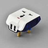 cognag 5v 2 1a electric dual usb charger adapter uk plug wall socket charging power switch outlet home travel