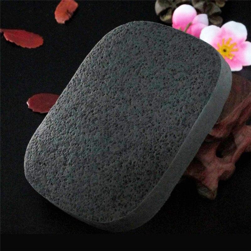1 pc macio natural de bambu carvão facial puff face limpeza profunda lavagem esponja maquiagem esfoliador flutter lavagem algodão excelente