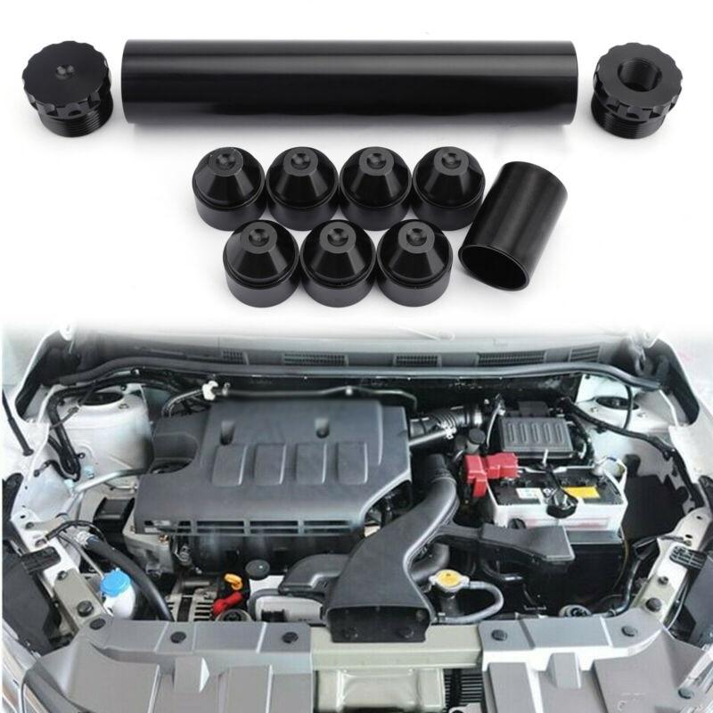 Coche negro filtro de aceite combustible elemento final para NAPA de 4003 de 1/2-28 hilo 6061-T6 de aluminio sólo para coche se