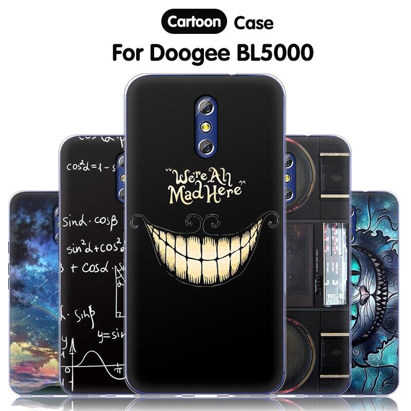 JURCHEN Original funda oficial de silicona para Doogee BL5000 cubierta linda de dibujos animados suave Tpu cubierta trasera completa para Doogee BL5000 funda 5,5