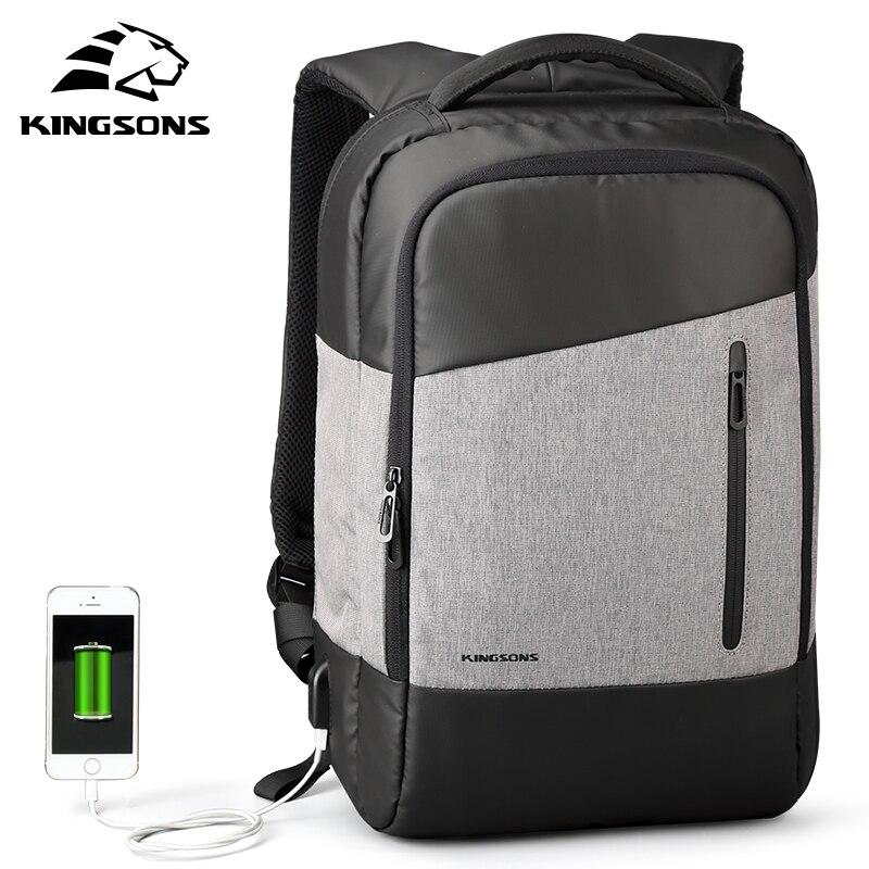 Kingsons telefone sugando mochilas diário casual daypacks mochila de viagem terno para adolescente homem negócios estudante