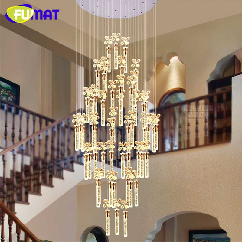 Smoat K9-مصباح معلق كريستالي على شكل زهرة ، تصميم حديث ، LED ، فن ، فندق ، سلالم ، غرفة معيشة ، ثريا