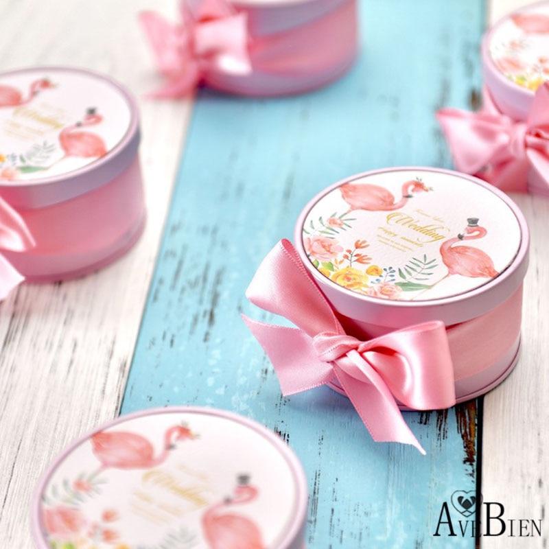 AVEBIEN, caja de dulces decorativos para boda, 10 Uds., suministros para fiesta de boda, caja de lata de caramelo de Chocolate, recuerdo de decoración de Navidad