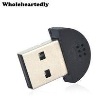 Pour ordinateur portable MSN YY SKYPE Super mince pilote gratuit MINI USB 2.0 sans fil Microphone micro Audio adaptateur