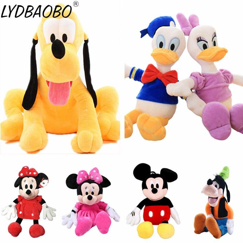 LYDBAOBO 1PC 7 Arten 30CM Nette Mickey/Minnie/Goofy/Pluto/Donald Duck Stopften Plüsch puppe Kinder Cartoon Figur Spielzeug Kinder Geschenke
