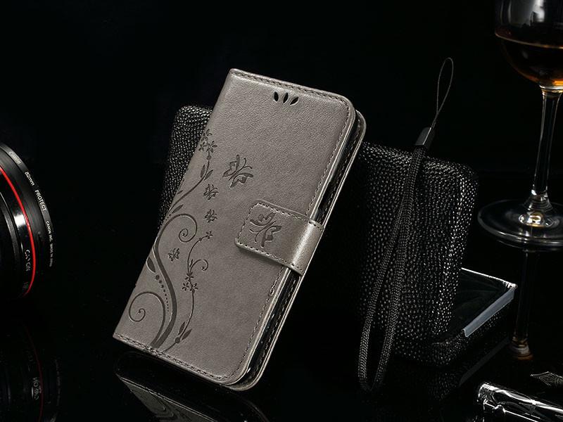Dla microsoft nokia lumia 640 lumia 630 lumia 550 worek nadrukowane butterfly pu wizytownik skórzany telefon okładka case shell 12