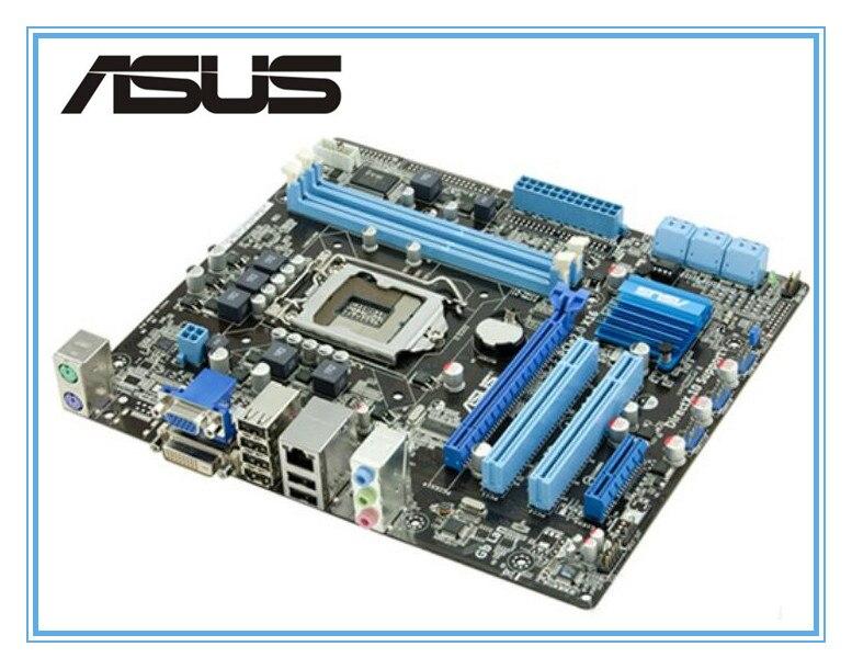 Placa base ASUS original usada P7H55-M PLUS H55 soporte I3 I5 I7 placa base de escritorio LGA 1156 DDR3 8GB placa base uATX