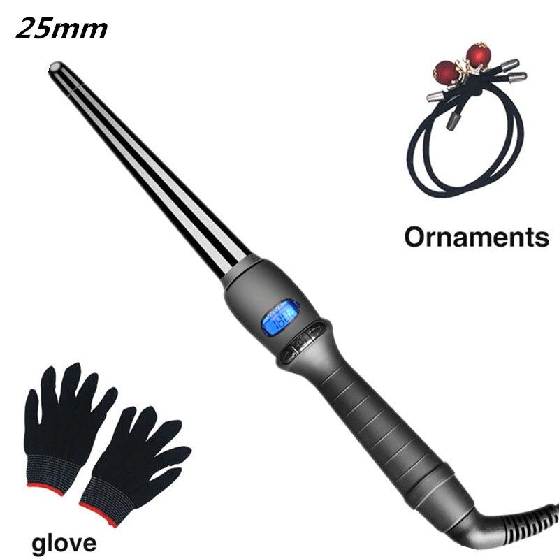 Щипцы для завивки волос с керамической глазурью, конические щипцы для завивки волос