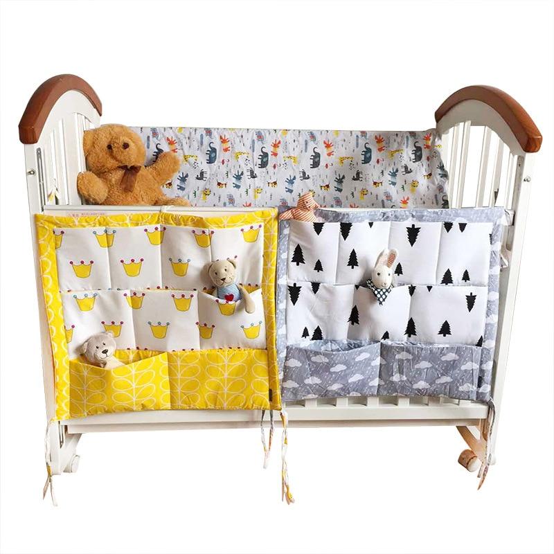 Bolsa de almacenamiento de ropa de cama de bebé colgante pañal de recién nacido cambiante bolso de cuna Bolso multiusos Organizador de bolsillo de pañales productos para bebés