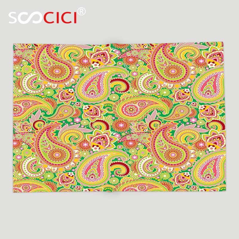 Заказное мягкое Флисовое одеяло с узором пейсли, традиционным персидским принтом Пейсли с восточными этническими элементами в винтажном с...