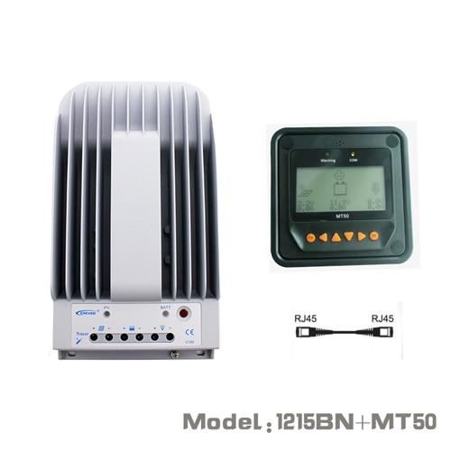 10A 12 V 24 V nuevo trazador 1215BN 10 amps programable MPPT controlador de carga Solar con MT50 LCD Pantalla remota medidor de WY