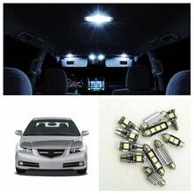 Ampoules de voiture 3 pièces blanc   Pack intérieur pour 2004 2005 2006 2007 2008 Acura TL carte coffre boîte à gants, lampe de porte