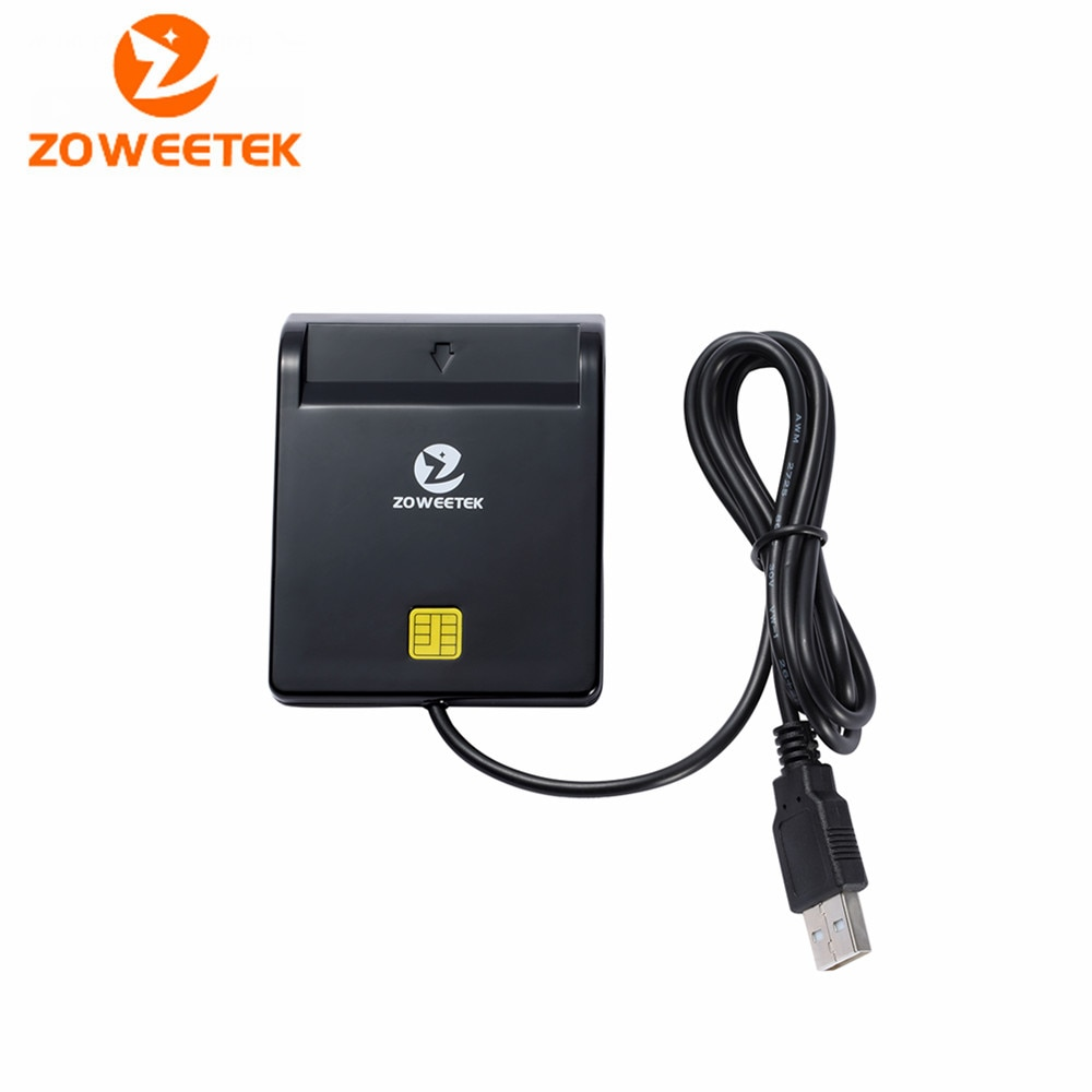 Zoweetek 12026-1 USB Smart Card Reader DOD Military USB Common Access CAC Smart Card Reader For SIM ATM IC ID Card