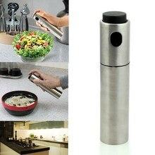 Pompe de pulvérisation en acier inoxydable   Pompe à brume Fine pour Olive, bouteille de pulvérisation dhuile, Pot de pulvérisation dhuile, outil de cuisine, Gadgets de cuisine 1 pièce