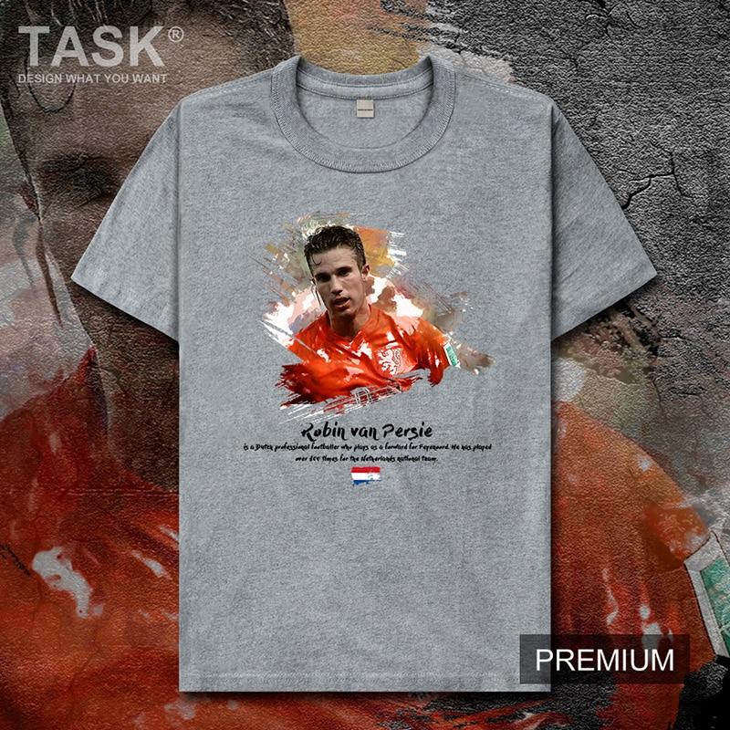 Robin mens camiseta van Persie jerseys Países Bajos futbolista estrella camiseta tops algodón impreso camisetas verano fitness manga corta