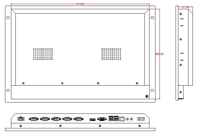 7U Rack Mount Industrial Computer, Core i3-4005U CPU, 4GB DDR3L RAM, 500GB HDD, 6*USB, 5*RS-232, Provide custom design services