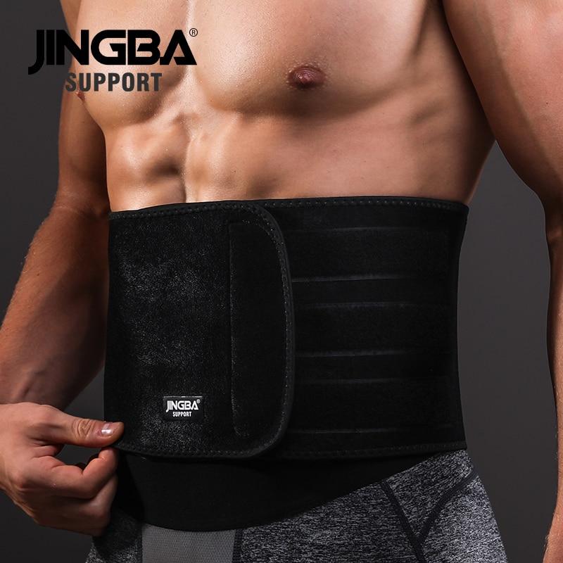 JINGBA SUPPORT Waist trimmer Support Slim fit Abdominal Waist sweat belt Sports Safety Back Support