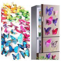 20 фото красочные 3D бабочки магниты на холодильник наклейки сделай сам романтическая бабочка стикер украшения комнаты стены