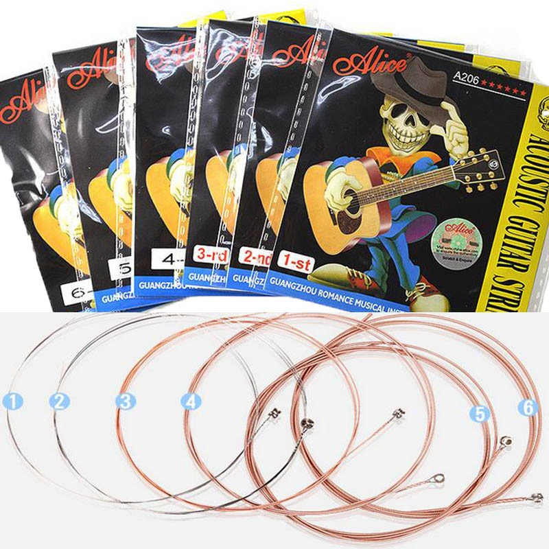1PC / 6PCS Acoustic Guitar Strings Nickel Plated Steel Guitar String For Acoustic Folk Guitar Classic Guitar Retail Packaging