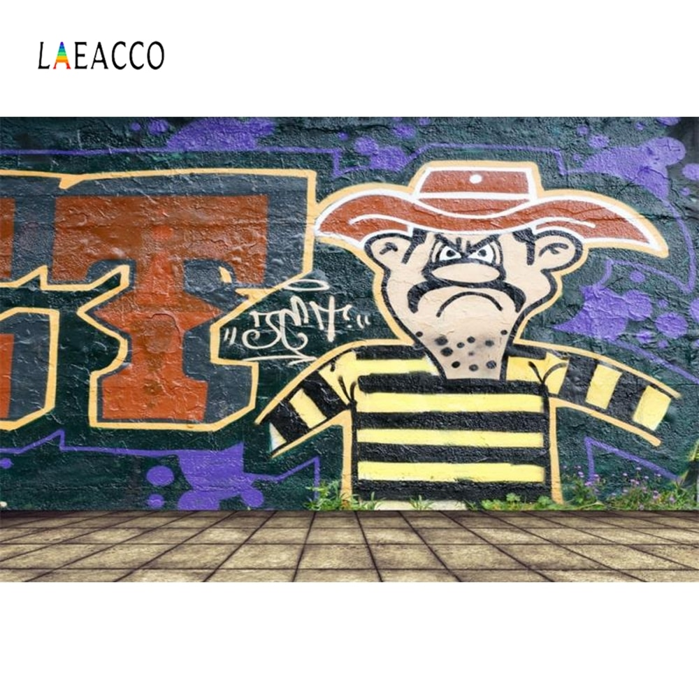 Laeacco parede de tijolos infantil graffiti bebê retrato fotografia fundos personalizados backdrops fotográficos para estúdio foto